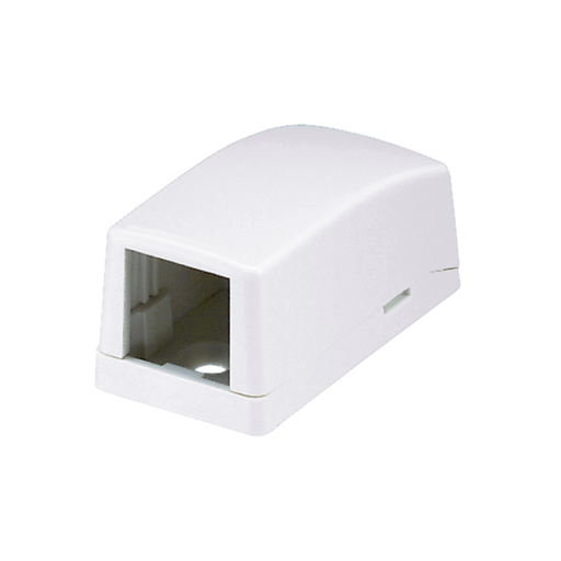 Mayer-Mini-Com® Surface Mount Box, 1 Port, Off White-1
