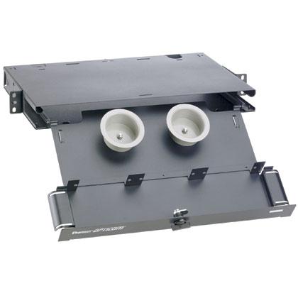 Mayer-Opticom® Rack Mount Fiber Enclosure, Black, 1 RU-1