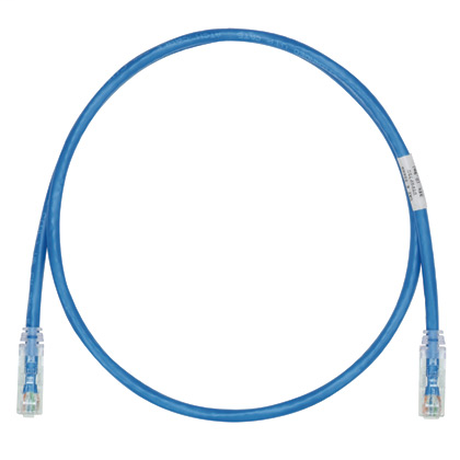 Mayer-Cat 6 28 AWG UTP Copper Patch Cord, 1 ft, Blue-1