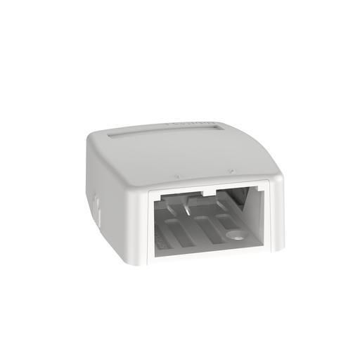 Mayer-Mini-Com® Surface Mount Box, 2 Port, Off White-1