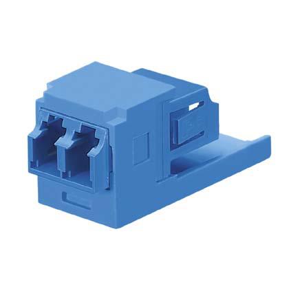 Mayer-Mini-Com® LC Adapter Module, Multimode Duplex, Blue-1