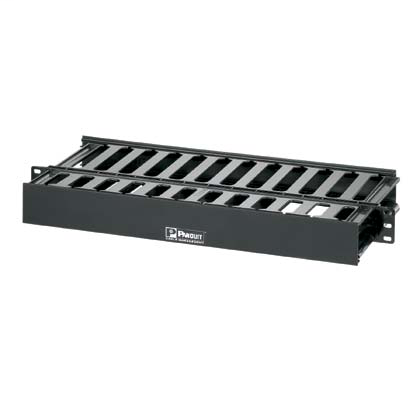 Mayer-PatchLink™ Horizontal Cable Manager, 1 RU, Black-1