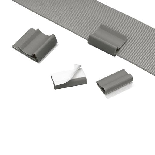 """Mayer-Panduit FCC-A-C8 Flat Cable Clip, PVC, 1.09"""" wide-1"""