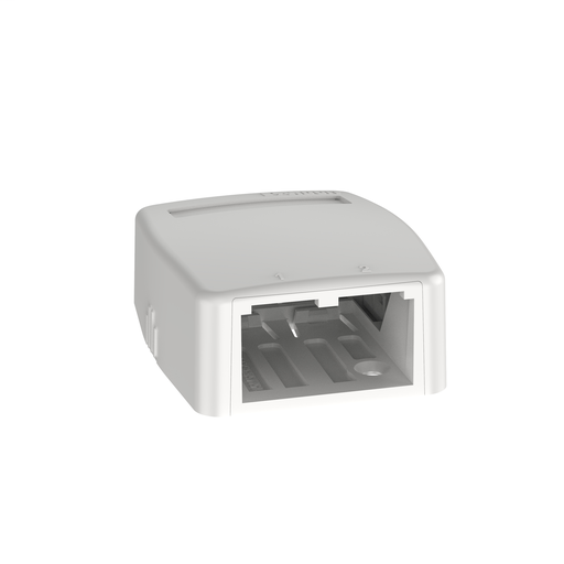 Mayer-Mini-Com® Surface Mount Box, 2 Port, White-1