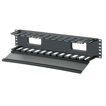 Mayer-PatchLink™ Horizontal Cable Manager, 2 RU, Black-1
