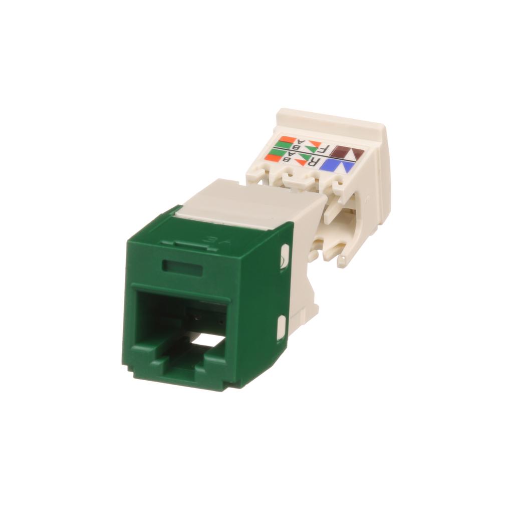 Mayer-Mini-Com® UTP RJ45 Cat 6 TG Jack Module, Green-1
