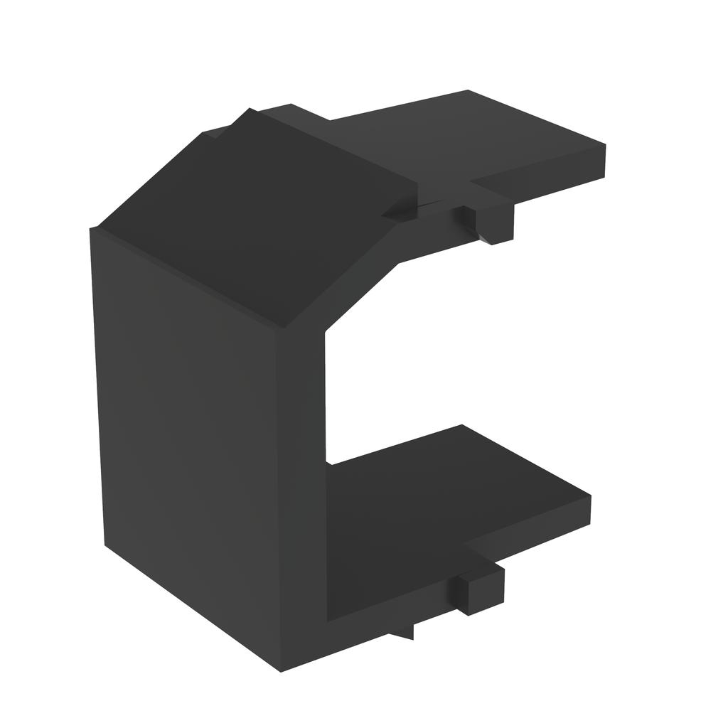 Mayer-NetKey® Blank Keystone Module, 1 Port, Black-1