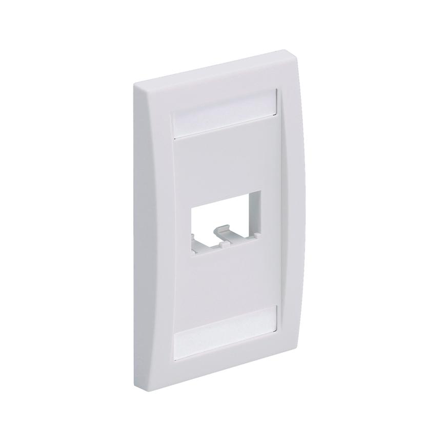 Mayer-Mini-Com® Faceplate, 2 Port, Off White-1