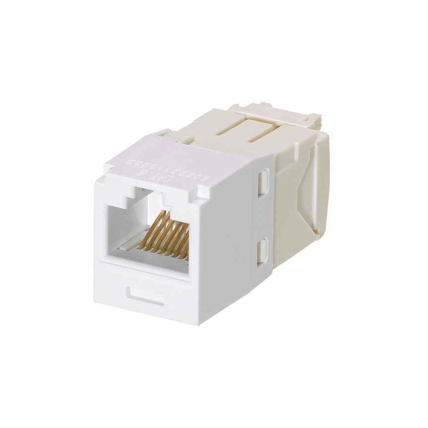 Mayer-Mini-Com® UTP RJ45 Cat 6 TG Jack Module, White-1