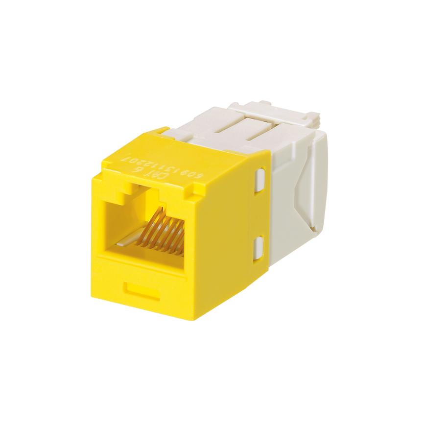Mayer-Mini-Com® UTP RJ45 Cat 6 TG Jack Module, Yellow-1