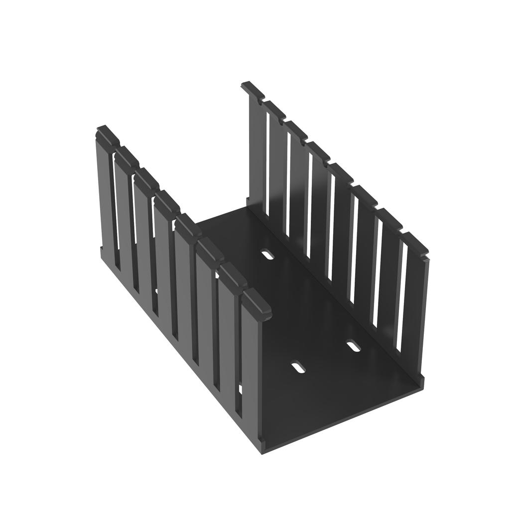 Mayer-Panduit G4X4BL6 Wide Slot Wiring Duct, No Cover-1