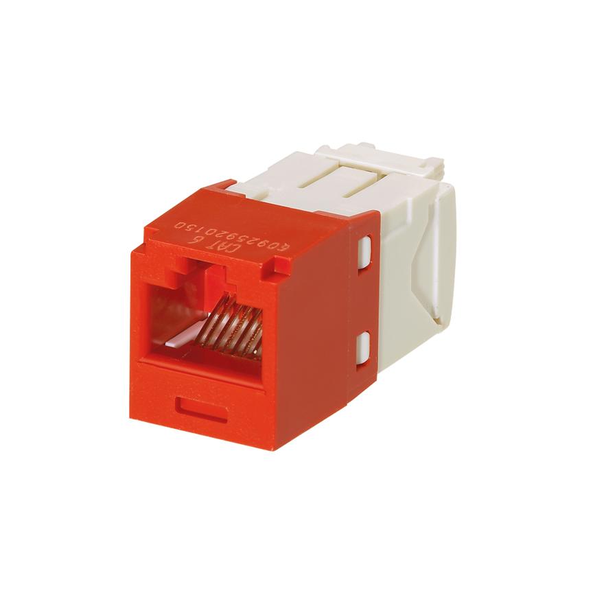 Mayer-Mini-Com® UTP RJ45 Cat 6 TG Jack Module, Red-1