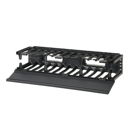 Mayer-NetManager® Horizontal Cable Manager, 2 RU, Black-1
