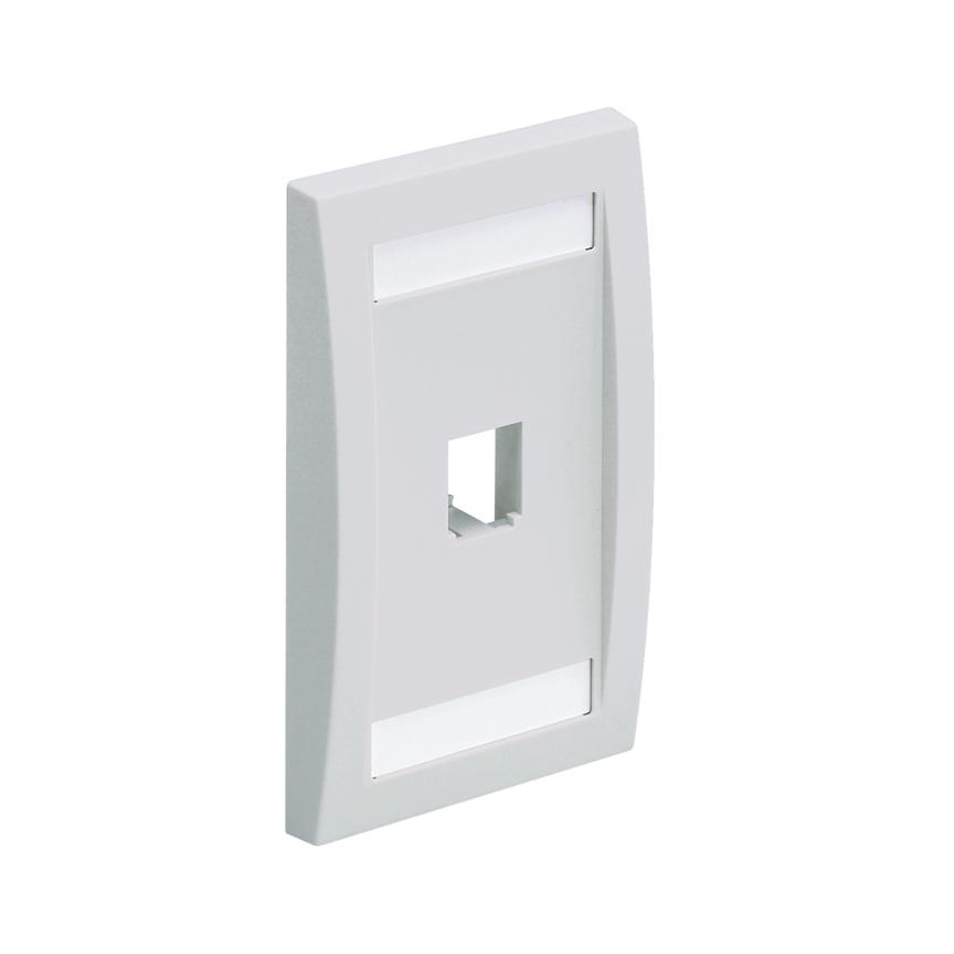 Mayer-Mini-Com® Faceplate, 1 Port, Off White-1