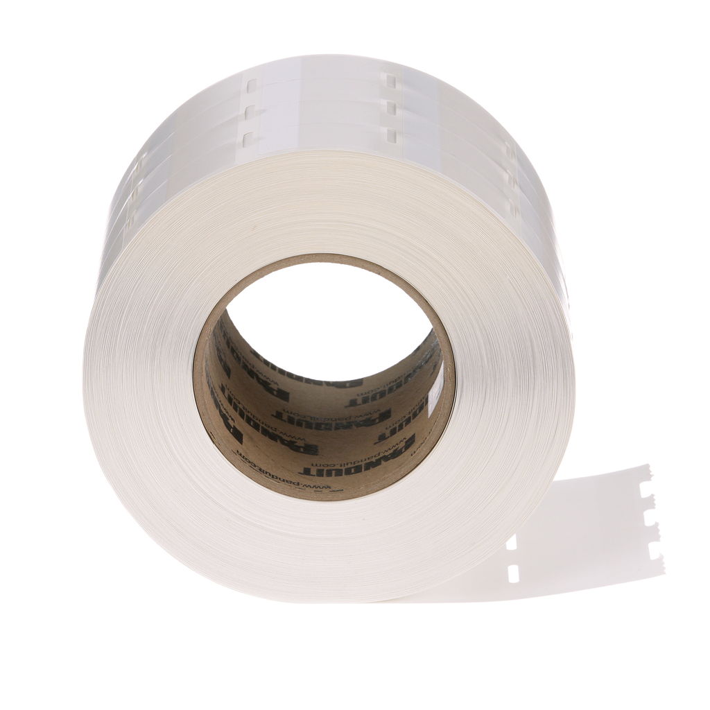 Panduit S100X150VATY 5000/Pack 1.5 x 1 Inch White Vinyl Thermal Transfer Self Laminating Label
