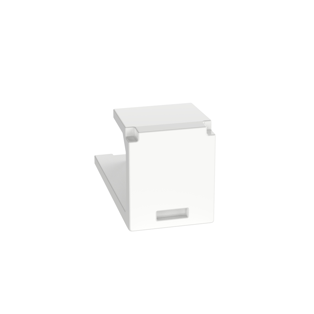Mayer-Mini-Com® Blank Module, 1 Port, White-1