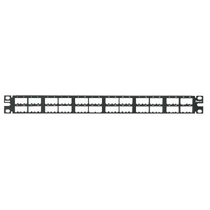 Mayer-Mini-Com® Patch Panel, 48 Port, 1 RU, BL-1