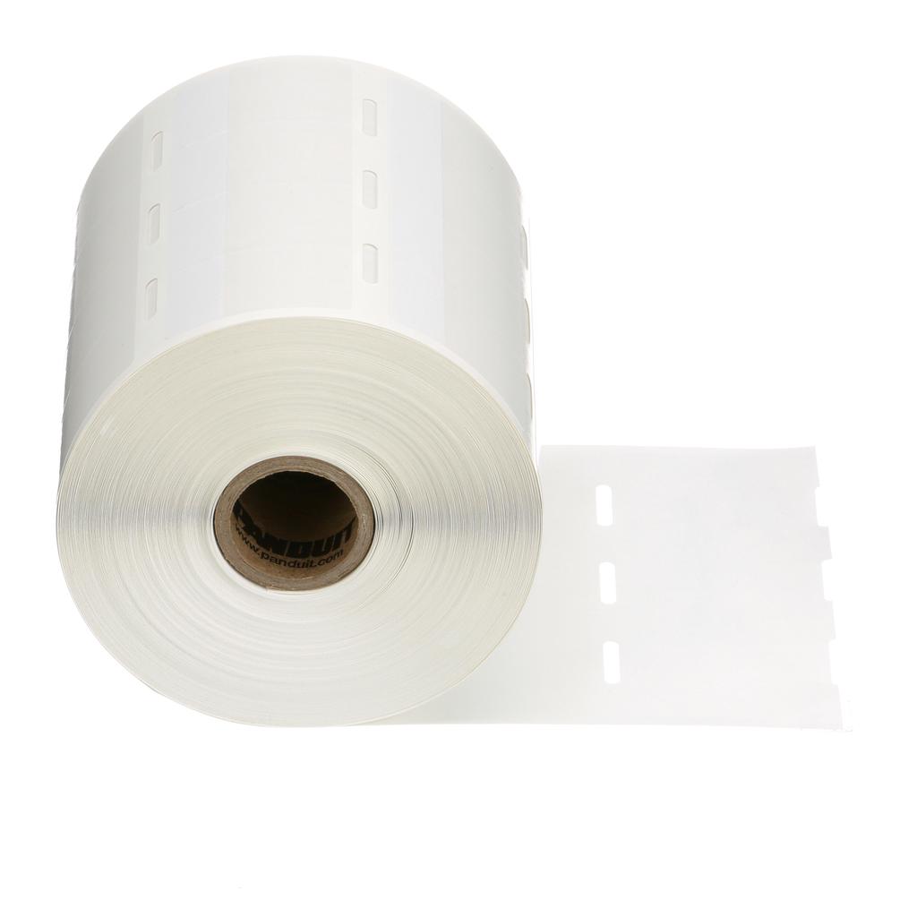 Panduit S100X150VA1Y 1.5 x 1 Inch White Vinyl Thermal Transfer Self Laminating Label