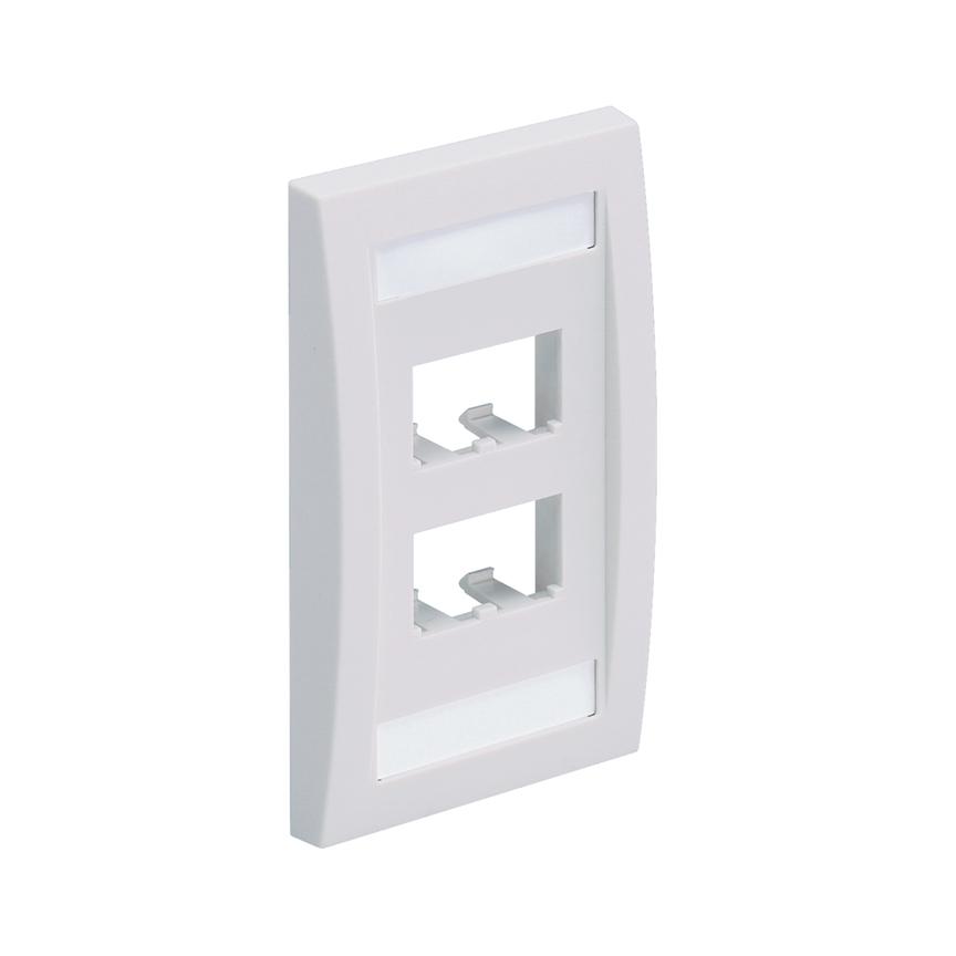 Mayer-Mini-Com® Faceplate, 4 Port, White-1