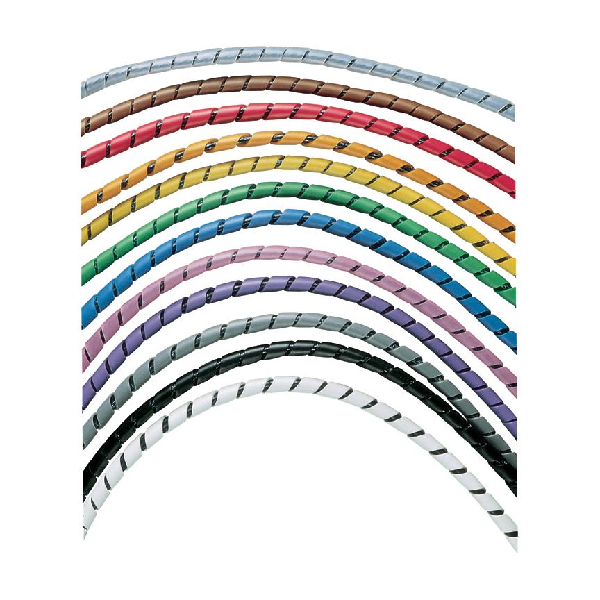 Mayer-Panduit T25R-CY Polyethylene Spiral Wrap, Natural-1