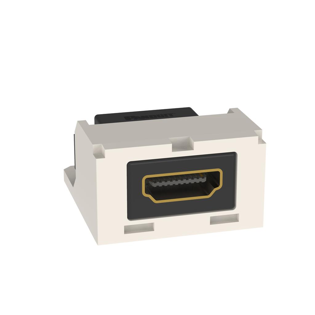 Mayer-Mini-Com® HDMI Coupler, 2.0 Type A, Off White-1