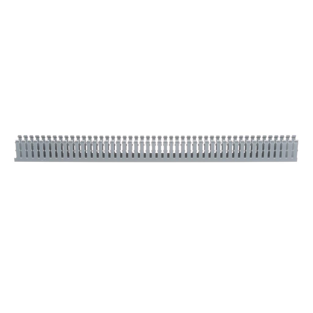 Panduit F1X2LG6 1 x 2 Inch x 6 Foot Light Gray PVC Slotted Duct