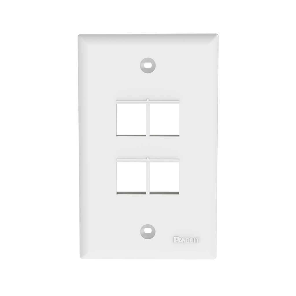 Mayer-NetKey® Faceplate, 4 Port, White-1