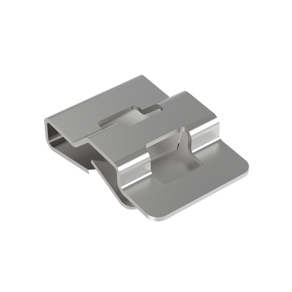 Panduit MCMS12-P-C 100-Pieces Natural Zinc Plated Steel Clip-On Cable Tie Mount