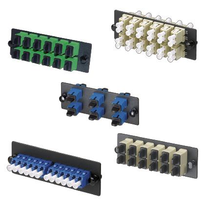 Mayer-LC Fiber Adapter Panel, OS1/OS2, LC Duplex, Blue-1