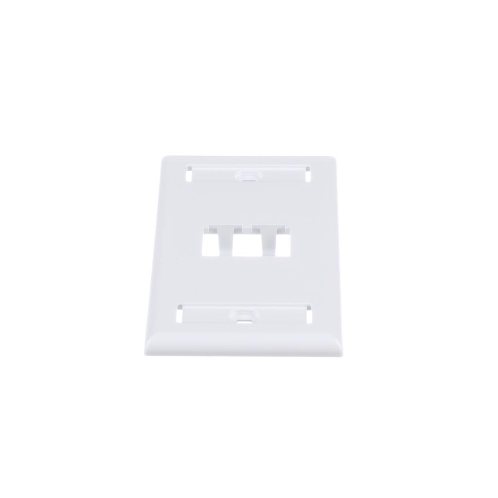 Mayer-Mini-Com® Single Gang Faceplate, 2 Port, White-1