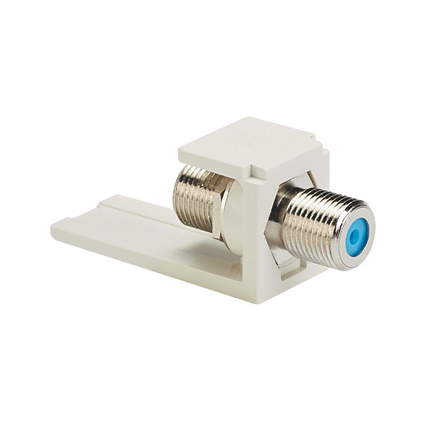 Mayer-Mini-Com® F-Type Coupler Module, 3 GHz, White-1