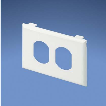 Faceplate,Elec/Comm,106Duplex,WH,EA