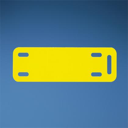 "Panduit M300X100Y6T Marker Plate 3"" x 1"", Yellow"