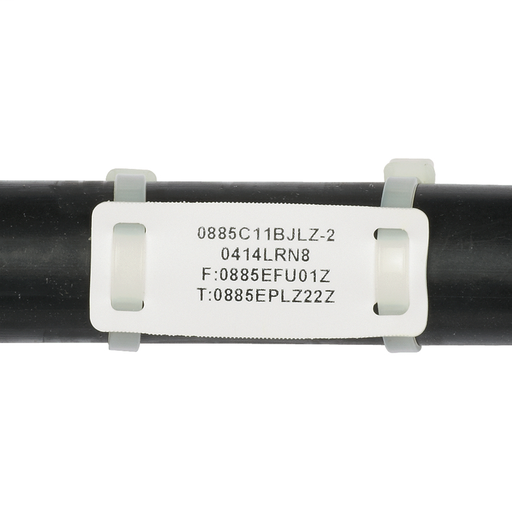 "Panduit M200X080FQT Marker Plate 2"" x 0.80"", White"