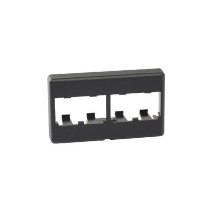 Mini-Com® Modular Furniture Faceplate, 4 Port, BL