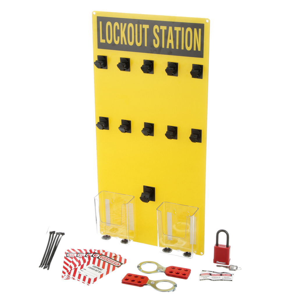 LOCKOUT STATION W/COMPONENT,10 PERSON,EA