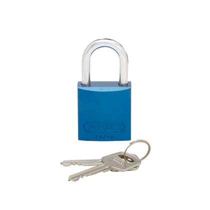 AluminumPadlock,1.06in shackle,BLU,EA