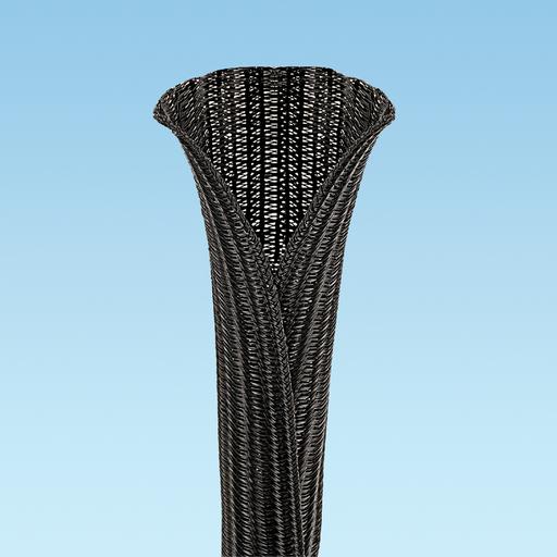 "Panduit SE50PS-CLR0 Braided Sleeving,Black,0.5""x150'"