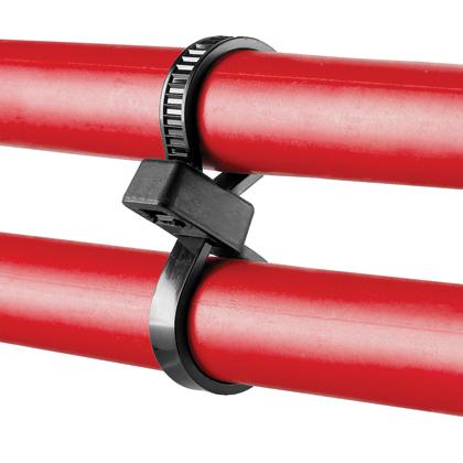 "Mayer-Panduit PLB2S-M30 Double Loop Cable Tie, Nylon 6.6, 7.6""-1"