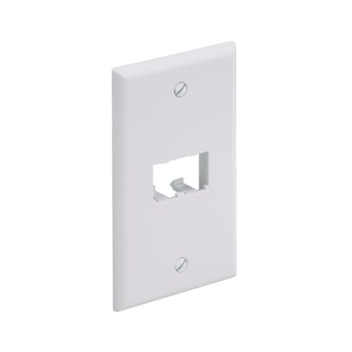 Mini-Com® Single Gang Faceplate, 2 Port, White