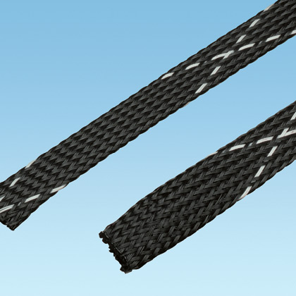 "Panduit SE25PFR-MR0 Braided Sleeving,Black,0.25""x1000'"