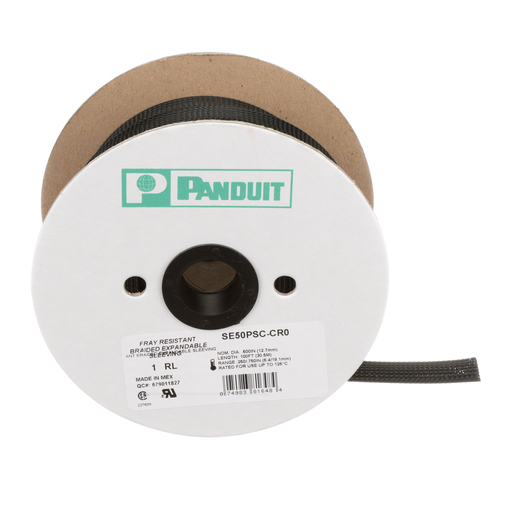 Panduit SE50PSC-CR0 Fray Resistant Braided Sleeving
