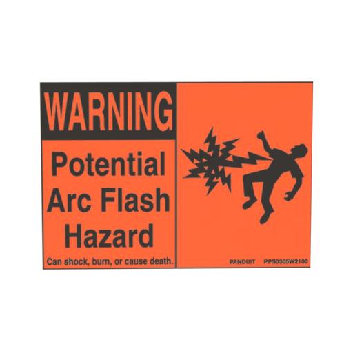 "Mayer-Panduit PPS0204W2100A Arc Flash Sign 4"" x 2.25""-1"