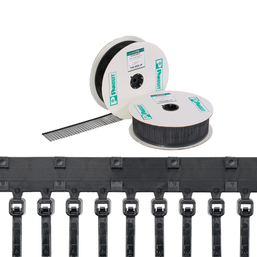 """Mayer-Panduit PLT1M-XMR30 Continuously Molded Cable Ties, 4""""-1"""