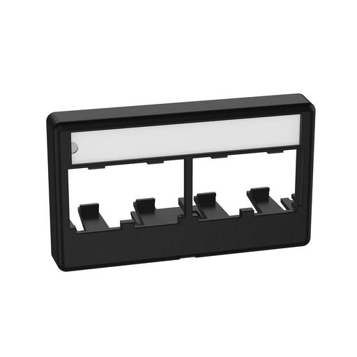 Mayer-Mini-Com® Modular Furniture Faceplate, 4 Port, BL-1