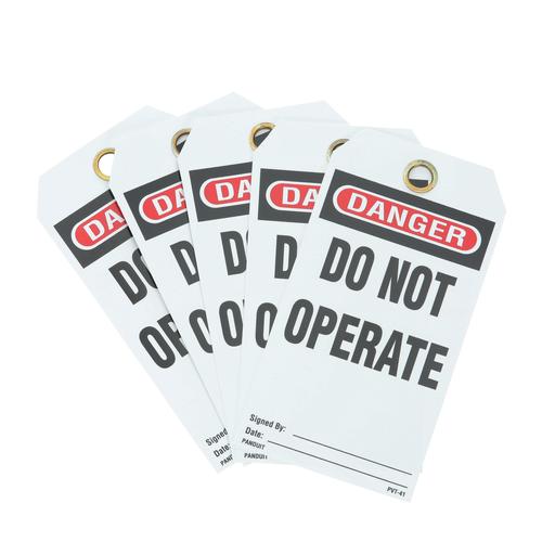 Mayer-Panduit PVT-41 Identification Tag Do Not Operate-1