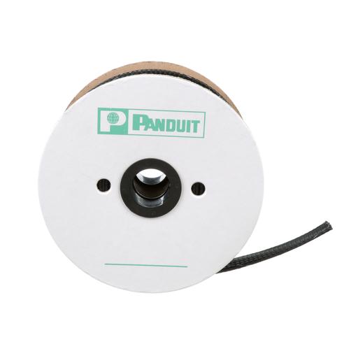"Panduit SE75PFR-CR0 Braided Sleeving,Black,0.75""x100'"