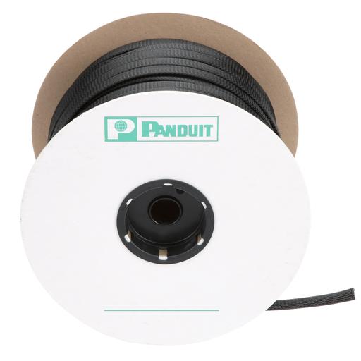 "Panduit SE75P-DR0 Braided Sleeving,Black,0.75""x500'"