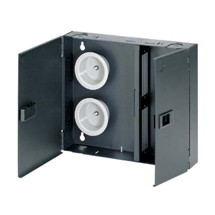 Mayer-Opticom® Wall Mount Fiber Enclosure, Black, 2 Ports-1