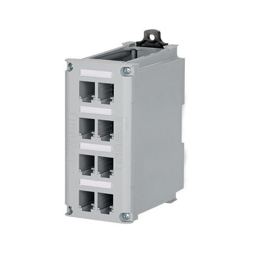 Mayer-Mini-Com® 8-port DIN Rail Shielded Patch Panel-1